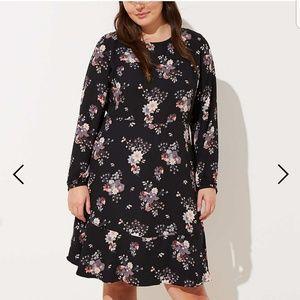 Loft floral Garden Flounce Dress